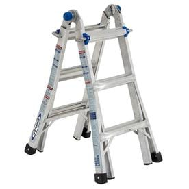 Werner MTIAA Aluminum 14-ft Reach Type 1AA - 375 lbs. Capacity Telescoping Multi-Position Ladder