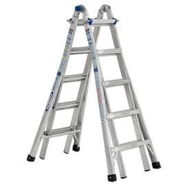 Werner 22 ft. Reach 5-in-1 Telescoping Aluminum Multi-Position Ladder with 375 lbs. Load Capacity Type IAA Duty Rating