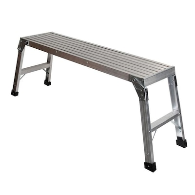 Awe Inspiring 1 67 Ft X 3 75 Ft X 12 In 250 Lbs Lb Aluminum Work Platform Onthecornerstone Fun Painted Chair Ideas Images Onthecornerstoneorg