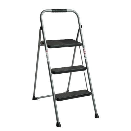 Awesome Werner 3 Step 225 Lbs Capacity Gray Steel Foldable Step Stool At Lowes Com Evergreenethics Interior Chair Design Evergreenethicsorg