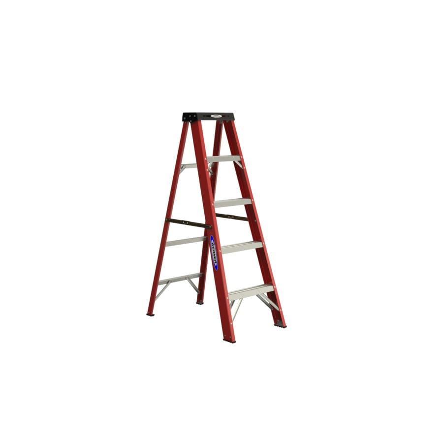 Werner 5-ft Fiberglass Type 2 225 lbs. Capacity Step Ladder