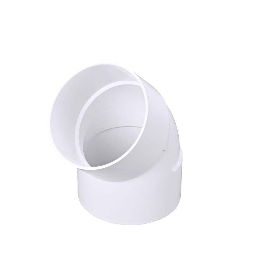 6-in Dia 45-Degree PVC Elbow Fitting