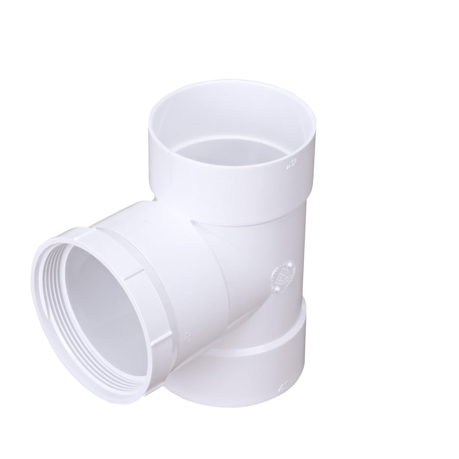4-in Dia 90-Degree PVC Sewer Drain Sewer Tee