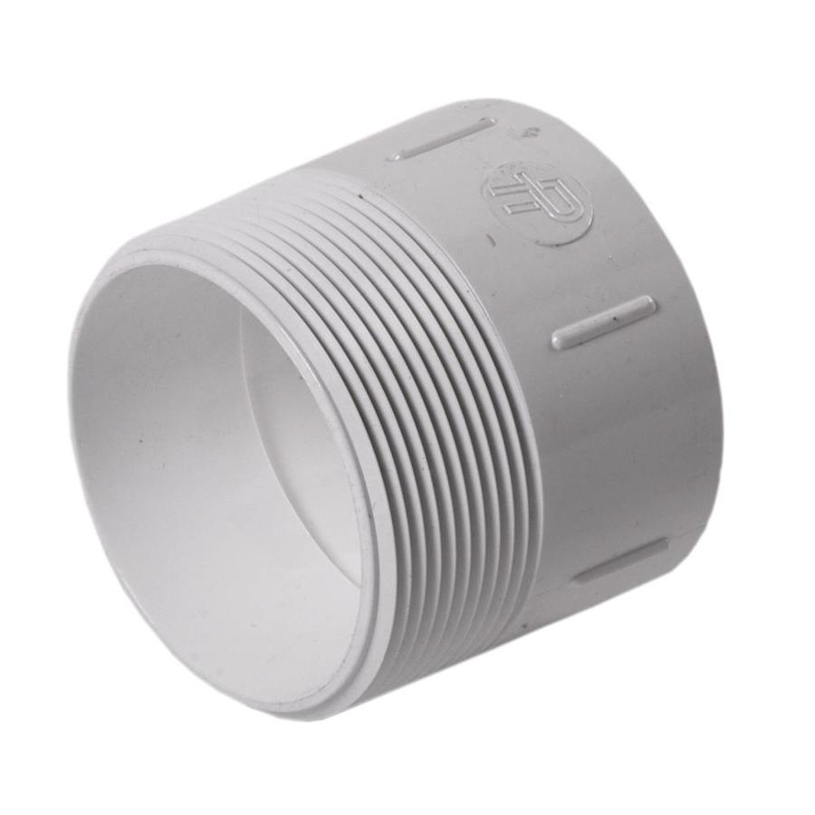 3-in Dia PVC Male Fitting