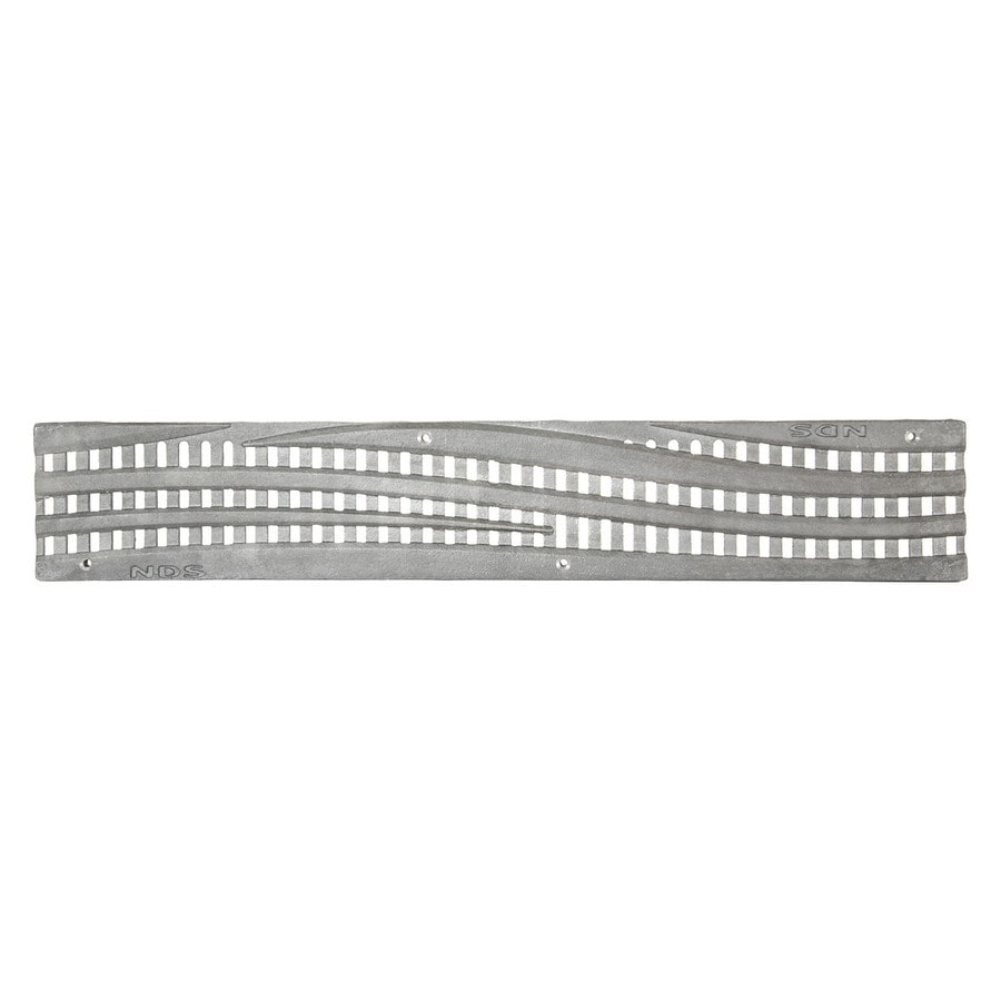 NDS 24-in L x 4.116-in W Rectangle Channel Grate