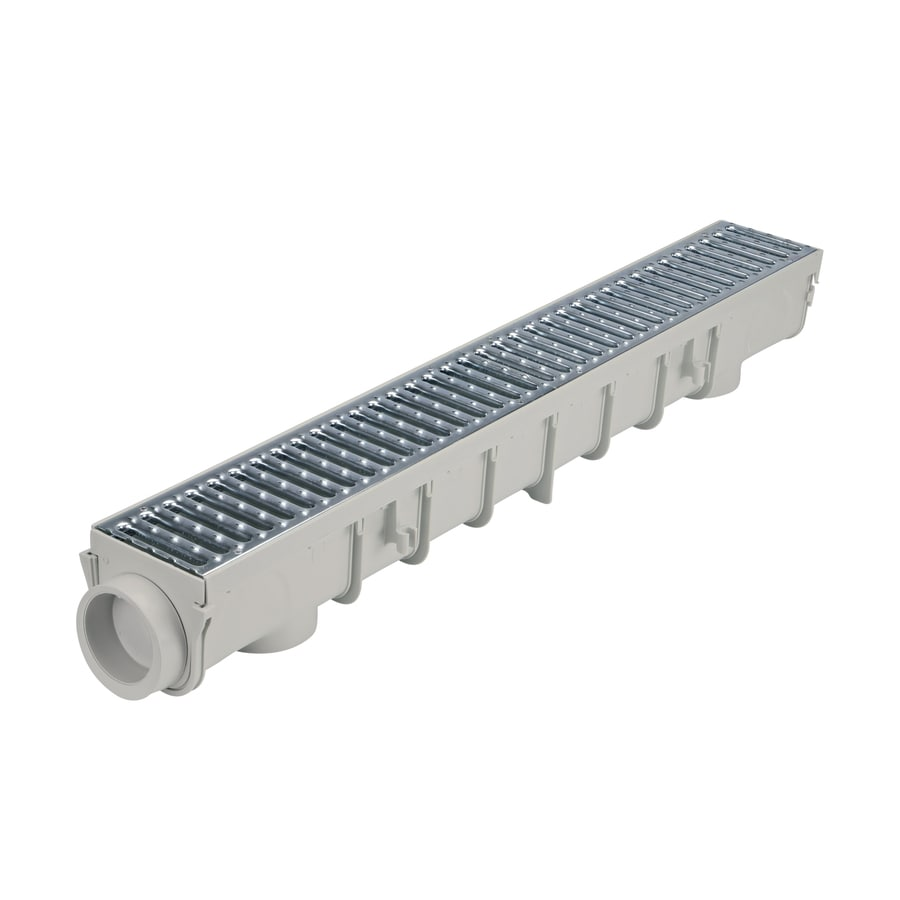 Shop Nds 3 3 Ft L X 5 In W Channel Drain Kit At Lowes Com
