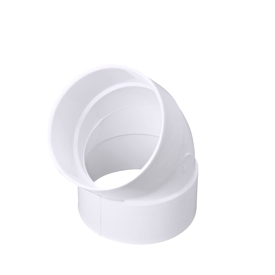 4-in Dia 45-Degree PVC Elbow Fitting