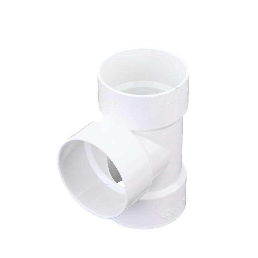 3-in dia 90-Degree PVC Tee With Left Side Inlet Fitting