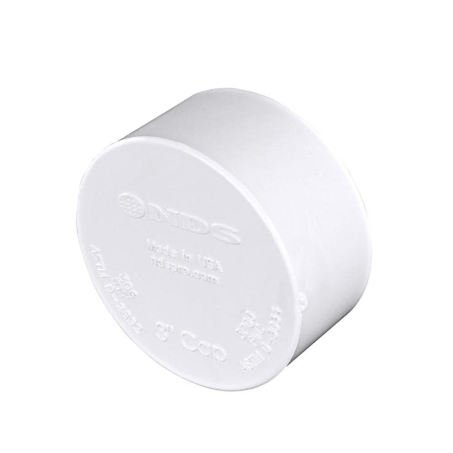 3-in dia PVC Cap Fitting