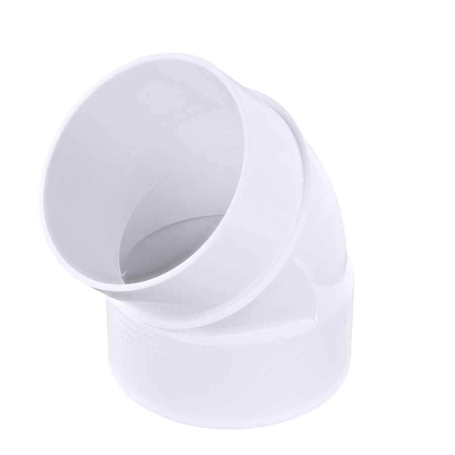 4-in dia 45-Degree PVC Street Elbow Fitting
