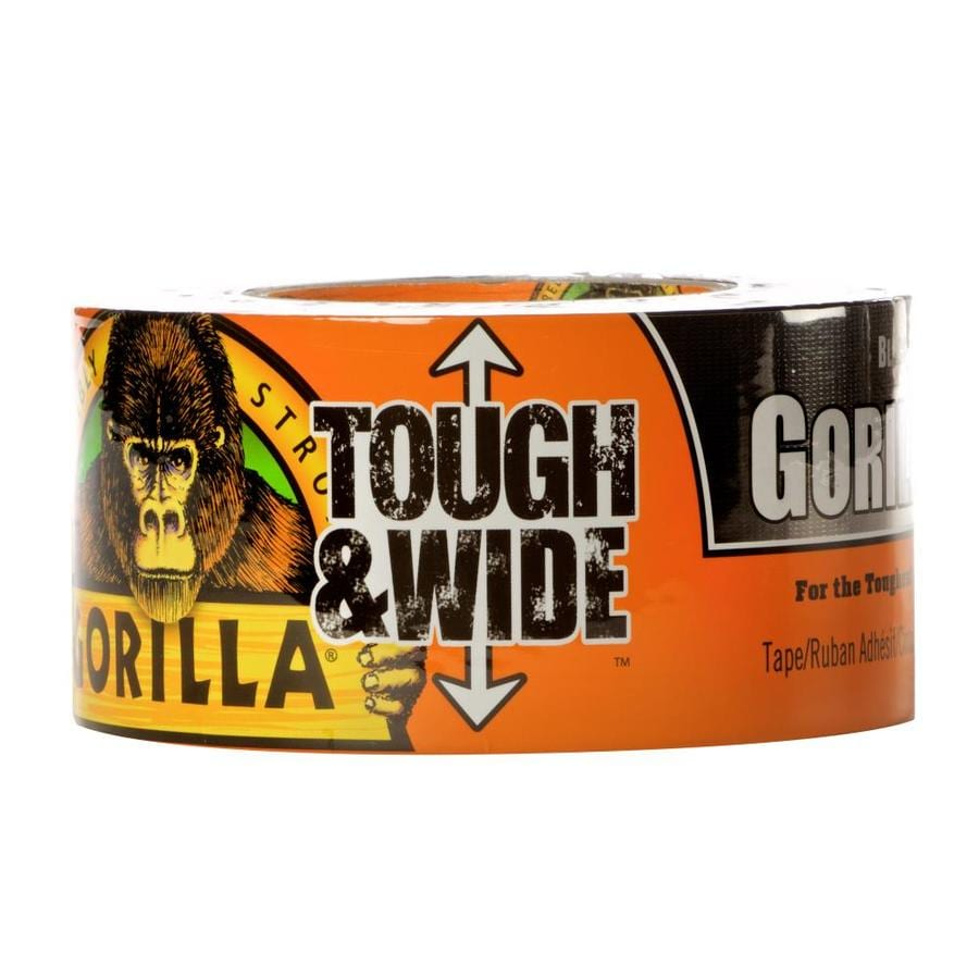 GORILLA Tough and Wide 2.88-in x 90-ft Black Duct Tape
