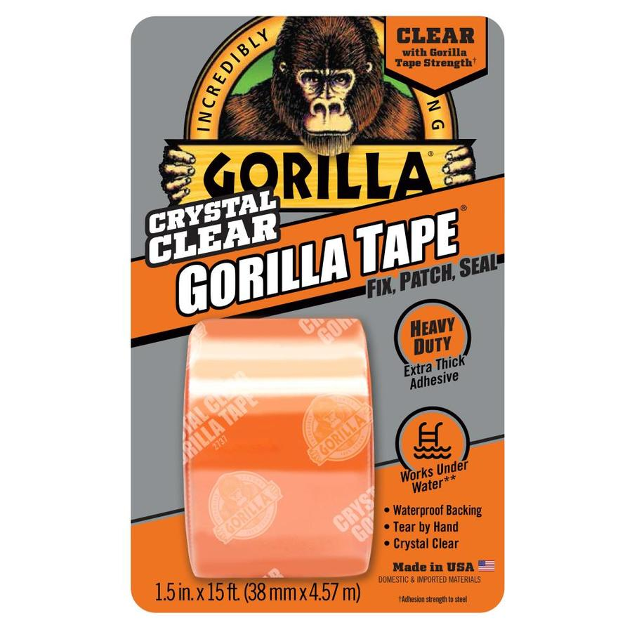 GORILLA Clear Repair 1.5-in x 15-ft Clear Duct Tape