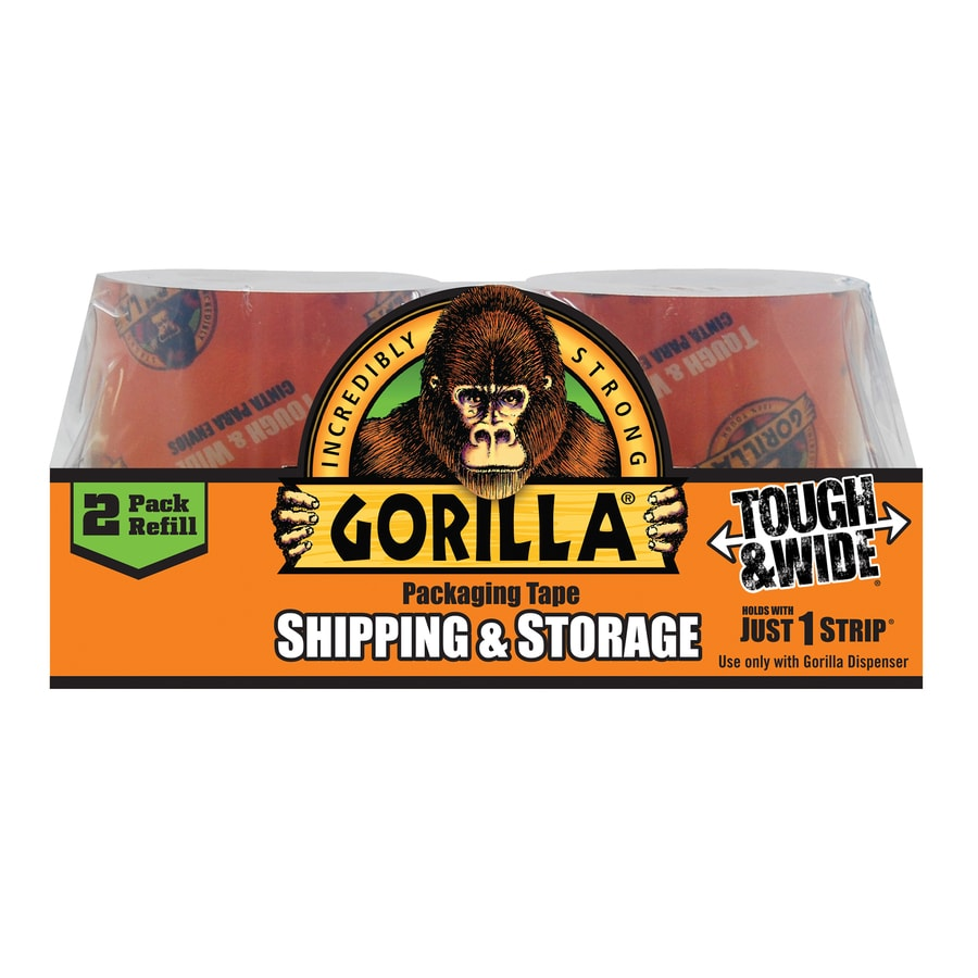 Gorilla Heavy Duty Packaging Tape 2-Pack 2.83-in x 60-Yard Clear Packing Tape