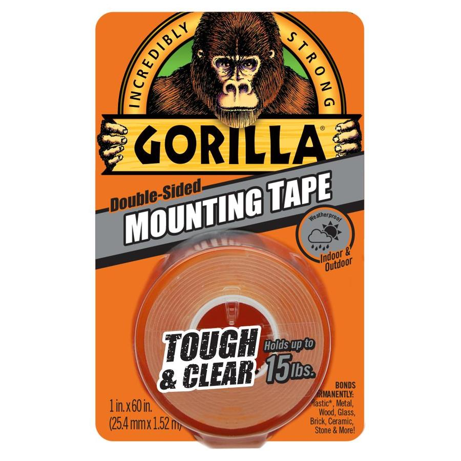 GORILLA 1-in W x 5-ft Two-Sided Tape