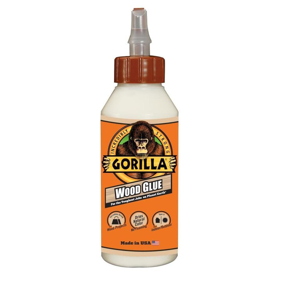 GORILLA Wood Glue Off-White Interior/Exterior Wood Adhesive (Actual Net Contents: 8-fl oz)