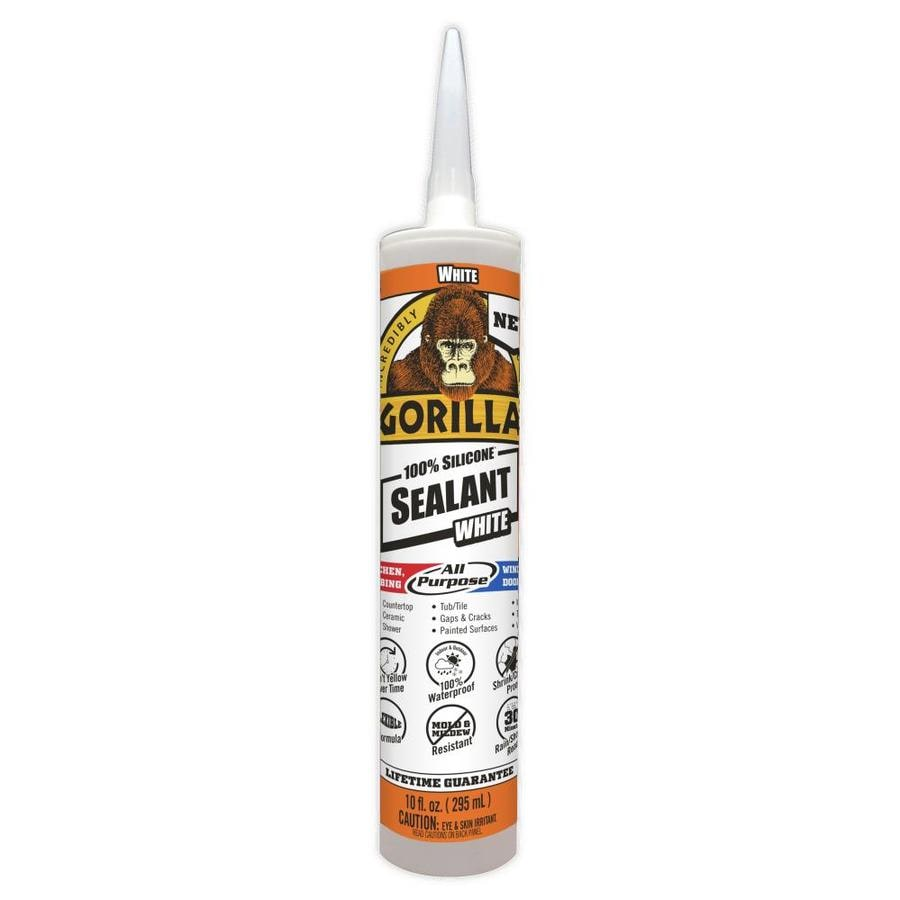 Gorilla 100% Silicone All-Purpose Sealant 10-oz White  Silicone Caulk