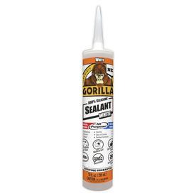 Gorilla 100% Silicone All-purpose Sealant 10-oz White Silicone Caulk