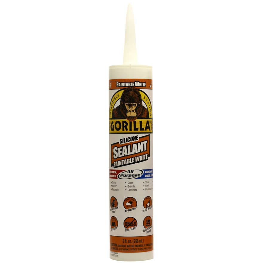 Gorilla Paintable All-Purpose 9-oz White  Paintable Silicone Caulk