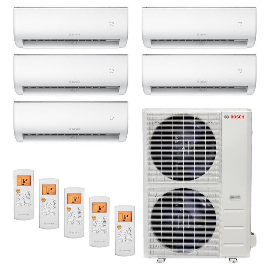 Bosch 48000 Btu 2250 Sq Ft Quad Or More Ductless Mini Split Air Conditioner With Heater Energy Star In The Ductless Mini Splits Department At Lowes Com