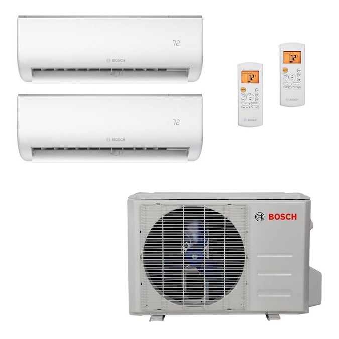 Bosch 27000 Btu 1500 Sq Ft Dual Ductless Mini Split Air Conditioner With Heater Energy Star In The Ductless Mini Splits Department At Lowes Com