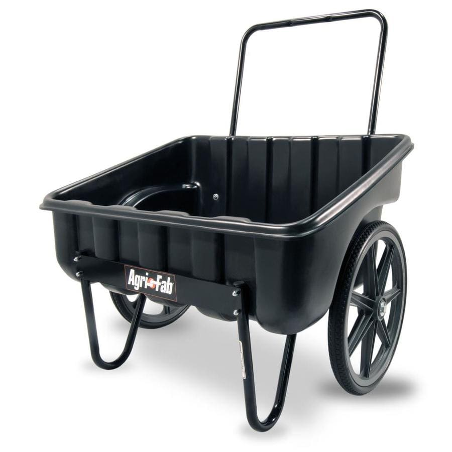 Merveilleux Yard Cart 5 Cu Ft Poly 20 Inch Wheels Outdoor Garden Sloped Cart Bed New