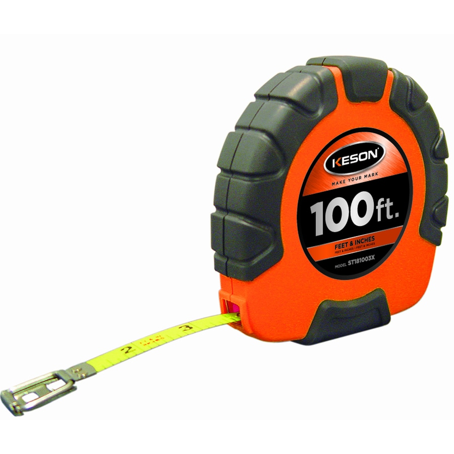KESON 100-ft ABS with Rubber Grip Nylon Coated Steel Blade Long Tape