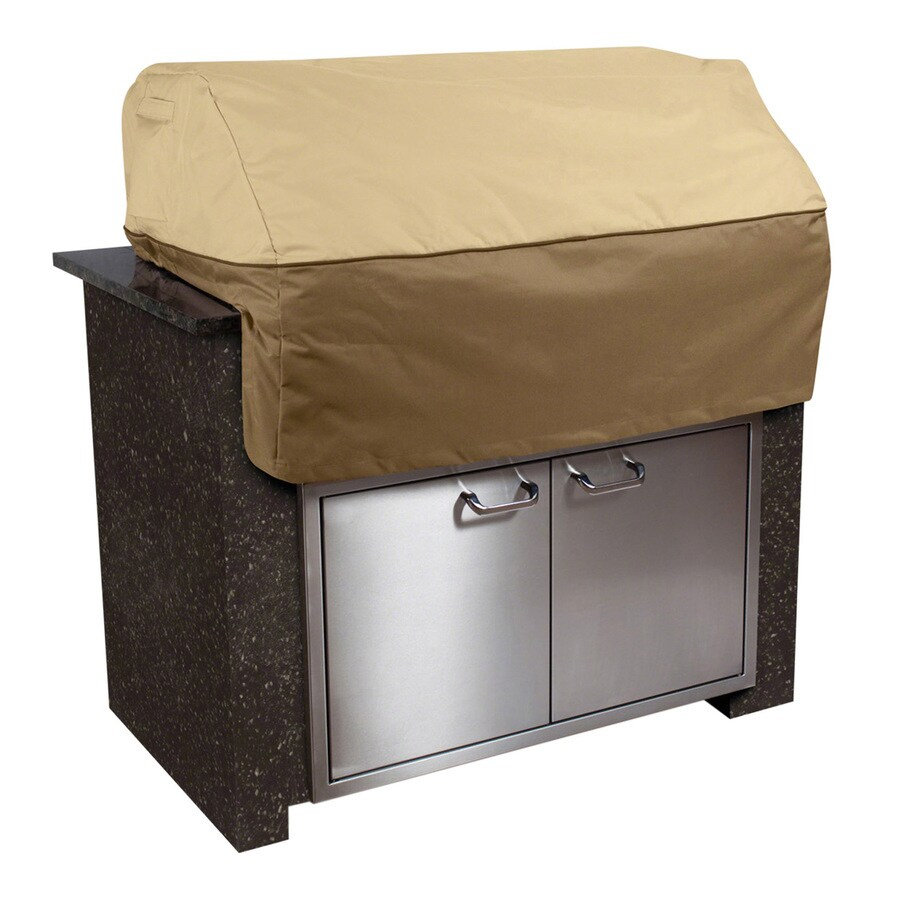 Classic Accessories 30-in x 27-in Pebble/Earth/Bark Polyester Gas Grill Cover