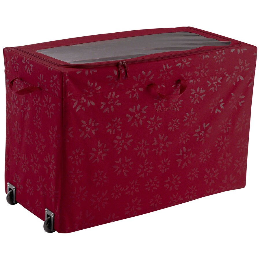 Classic Accessories 18-in W x 24-in H Red/Pink Polyester Ornament Storage Bag