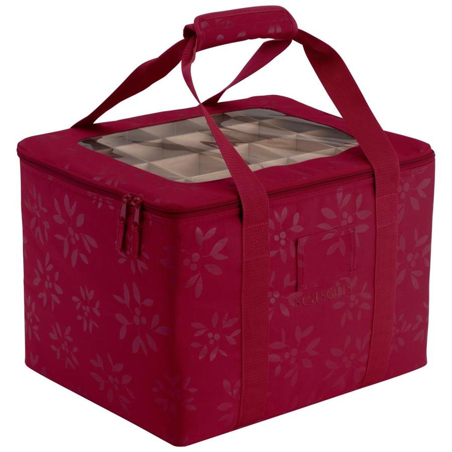 Classic Accessories 13-in W x 12-in H Red/Pink Polyester Ornament Storage Bag