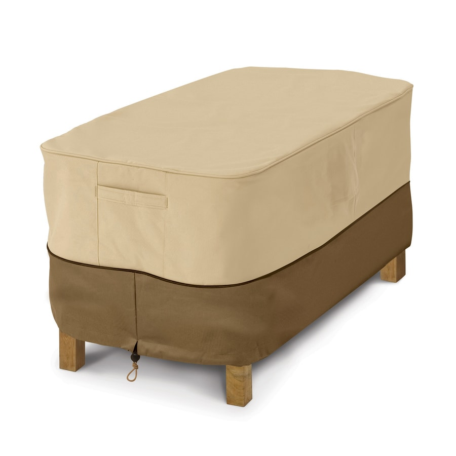 Shop Classic Accessories Veranda Pebble And Bark Coffee Table Cover At