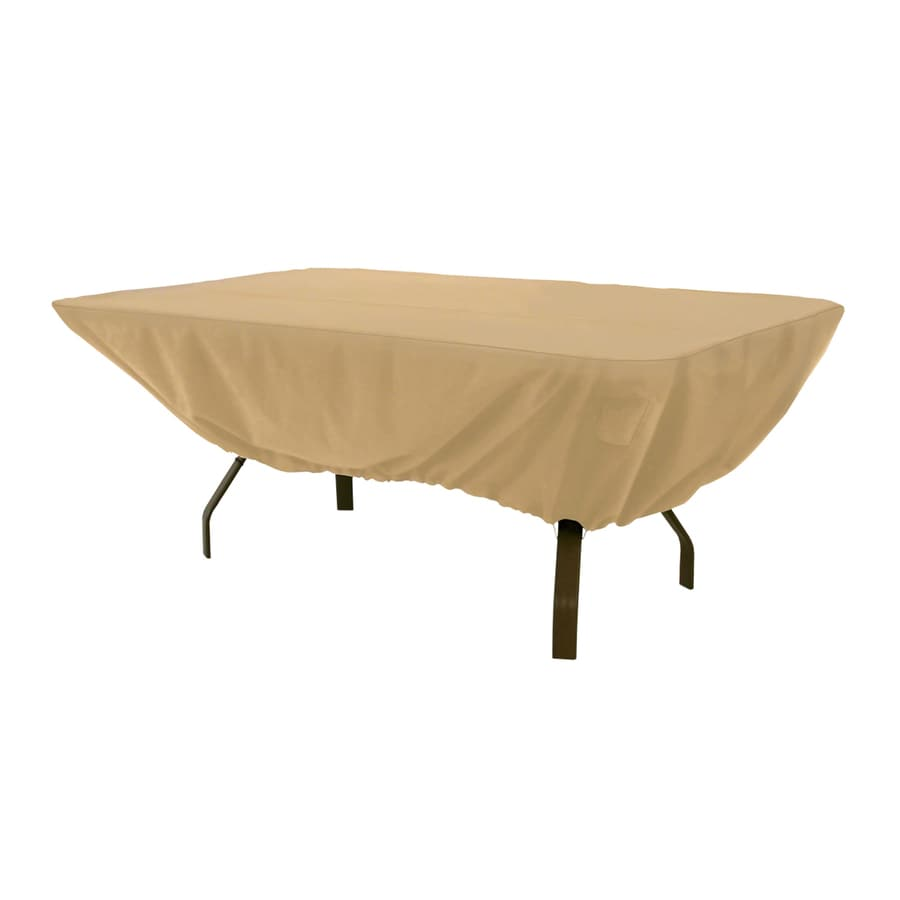 Shop Classic Accessories Terrazzo Sand Dining Table Rectangle Cover At