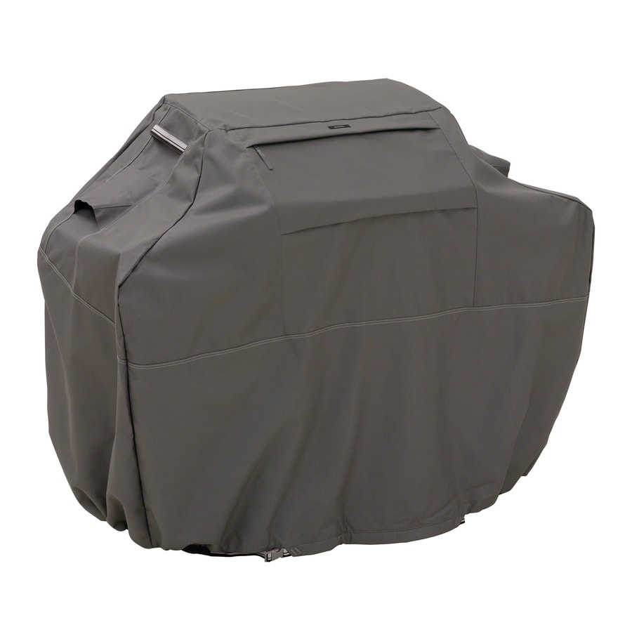 Classic Accessories 22.5-in x 49-in Dark Taupe Polyester Gas Grill Cover