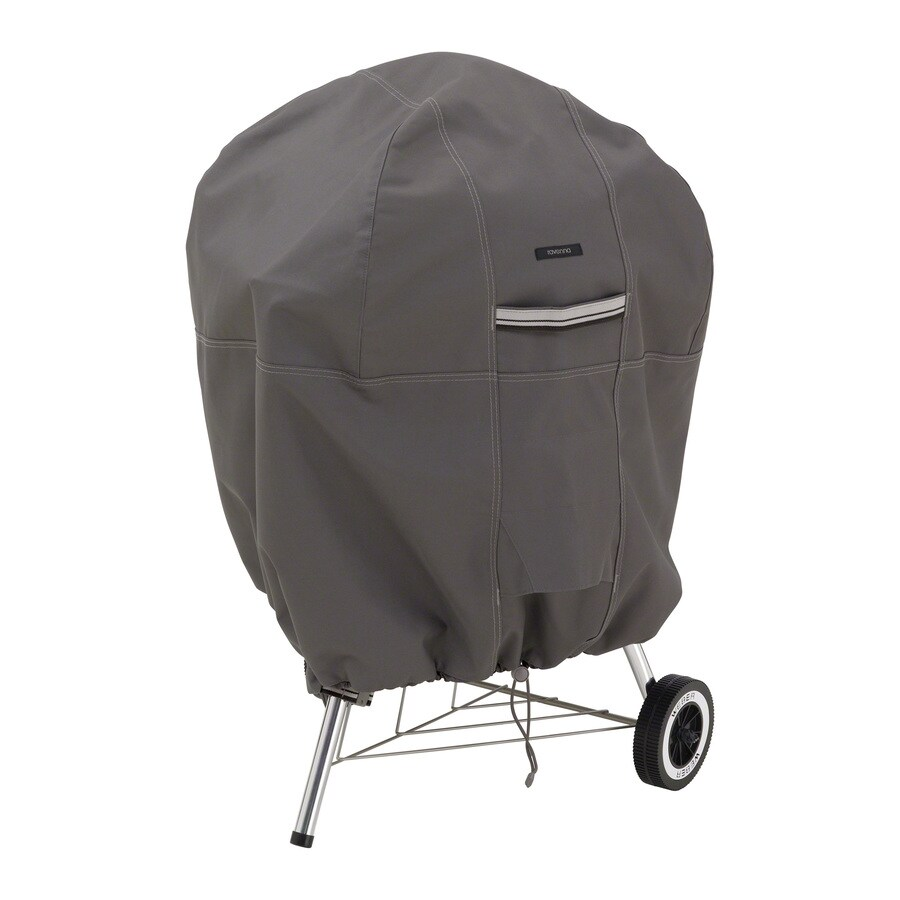 Classic Accessories Ravenna 26.5-in x 84-in Dark Taupe Polyester Charcoal Kettle Grill Cover
