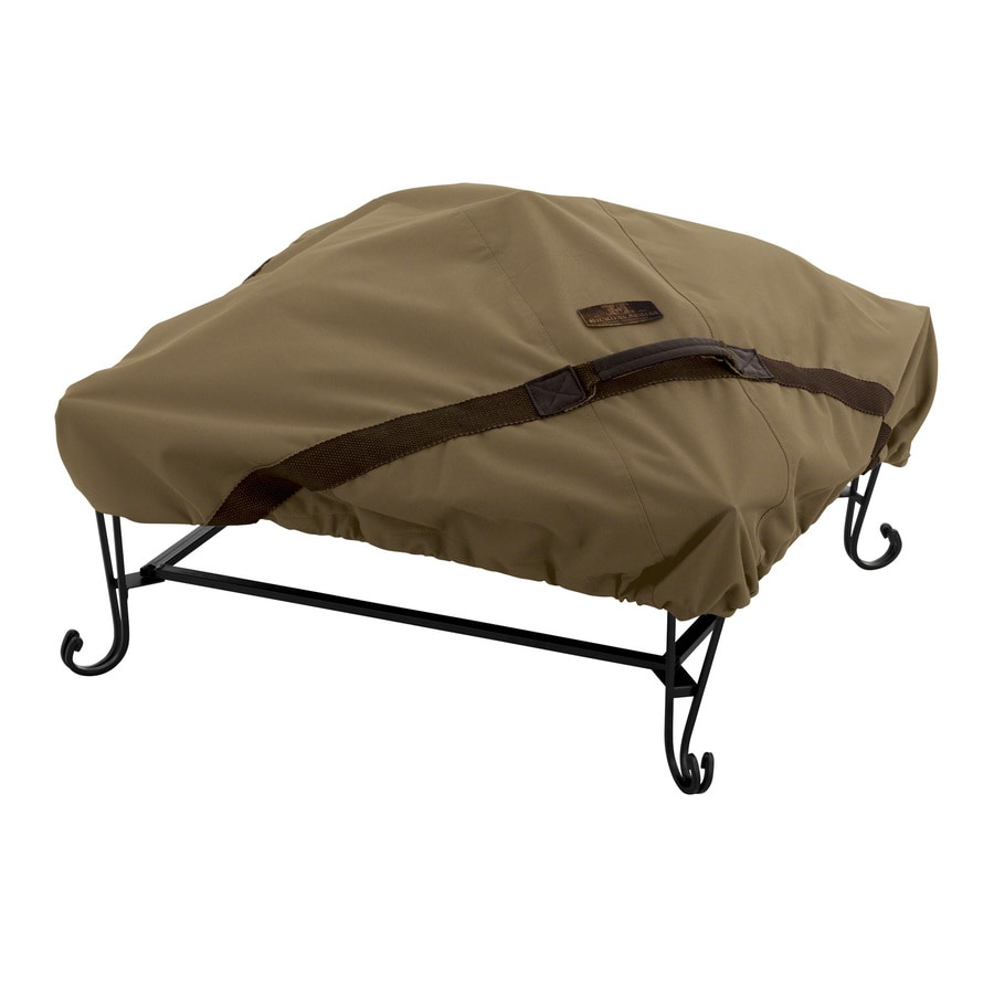Classic Accessories Hickory 40-in Tan Square Firepit Cover