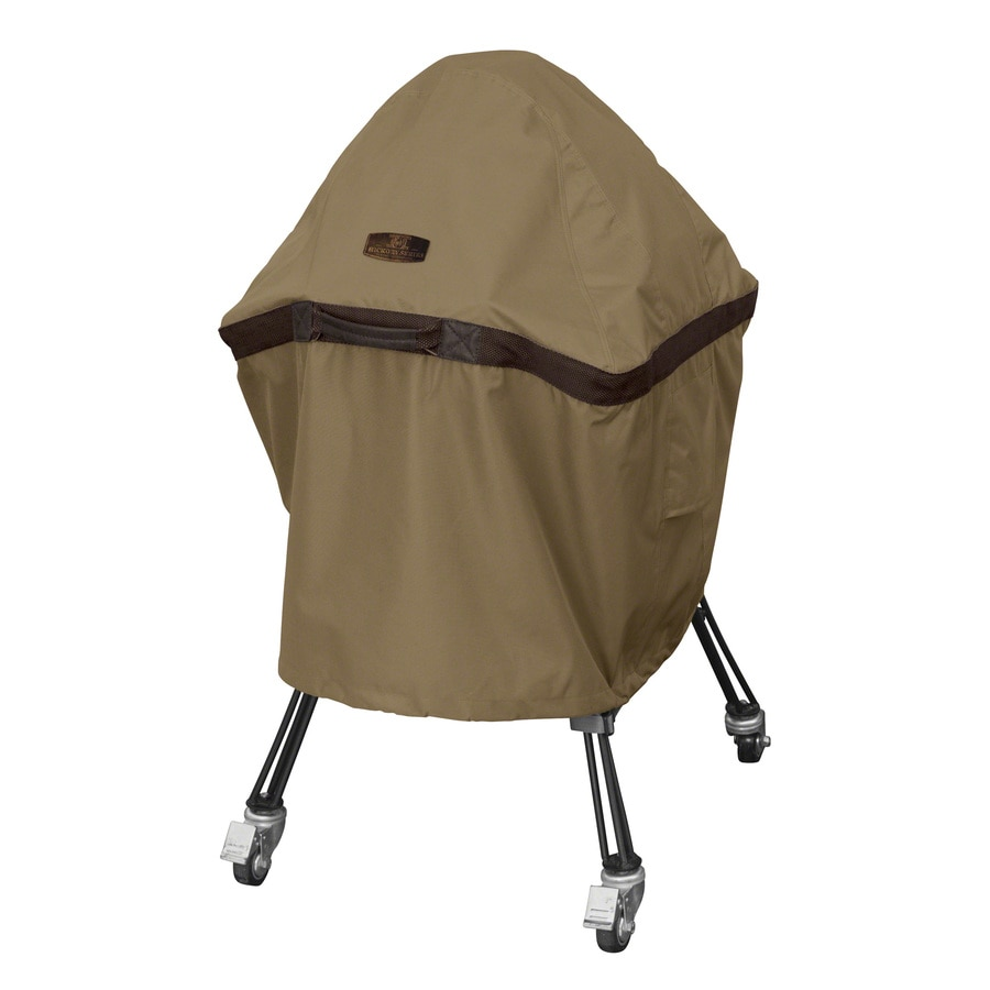 Classic Accessories 14-in x 110-in Hickory Polyester Charcoal Grill Cover