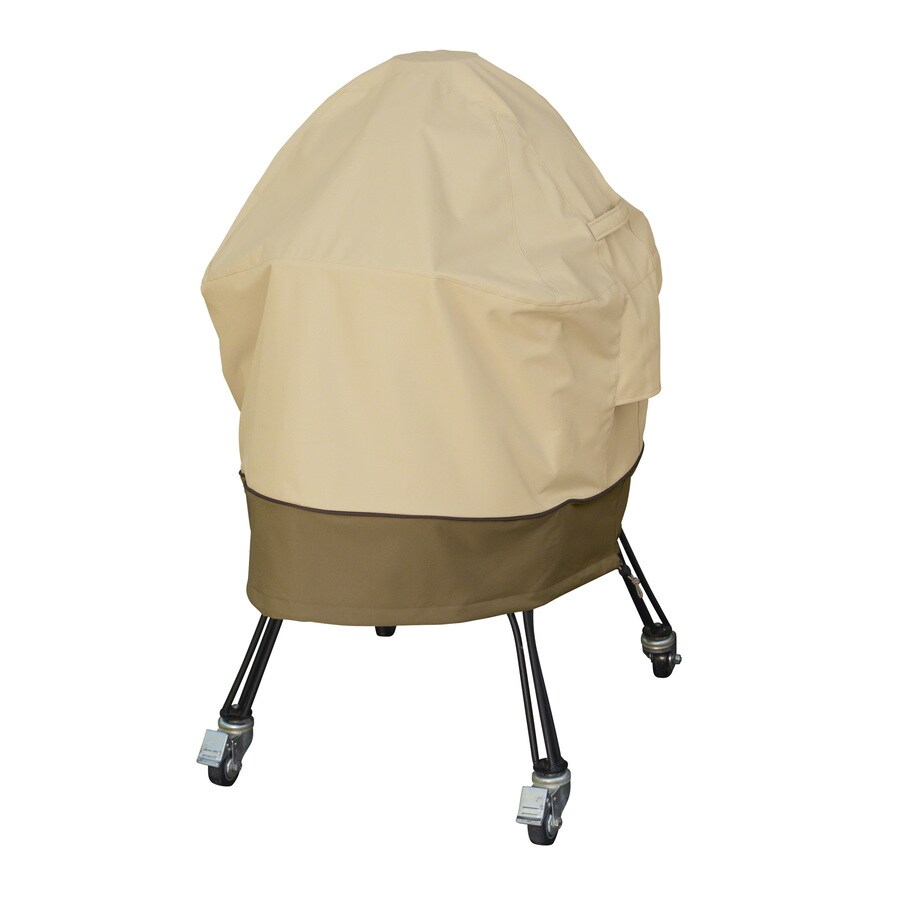 Classic Accessories 12.5-in x 100-in Pebble/Earth/Bark Polyester Charcoal Grill Cover