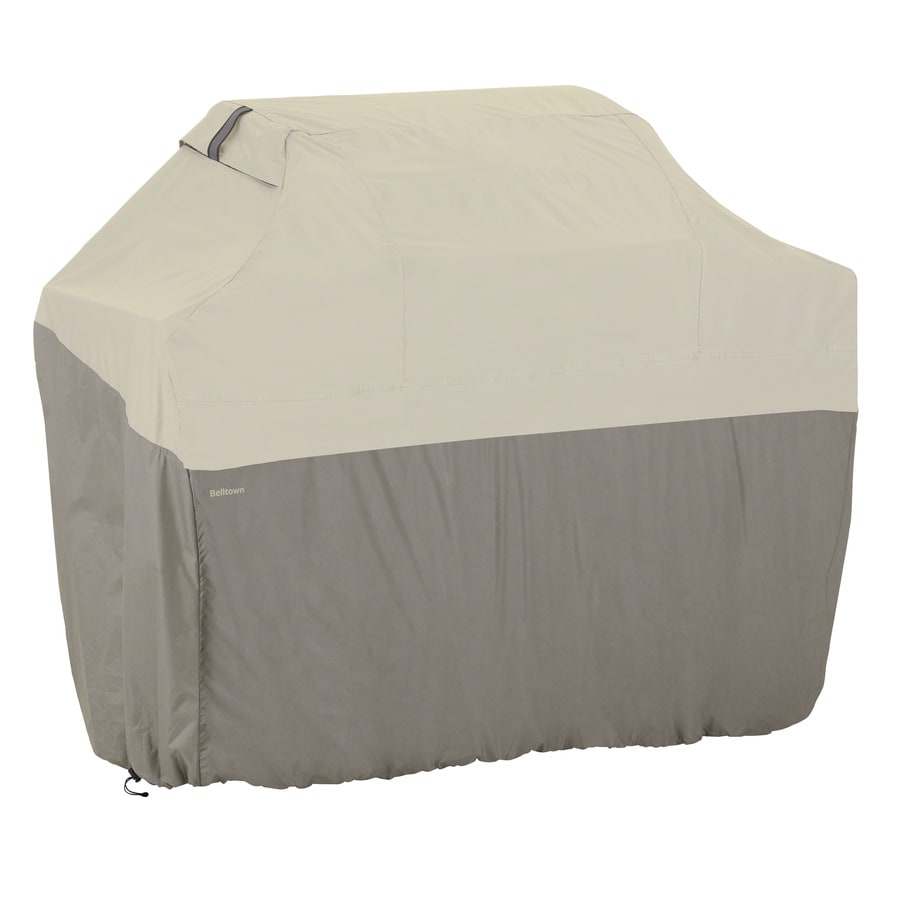 Classic Accessories 22.5-in x 49-in Sidewalk Grey Polyester Gas Grill Cover