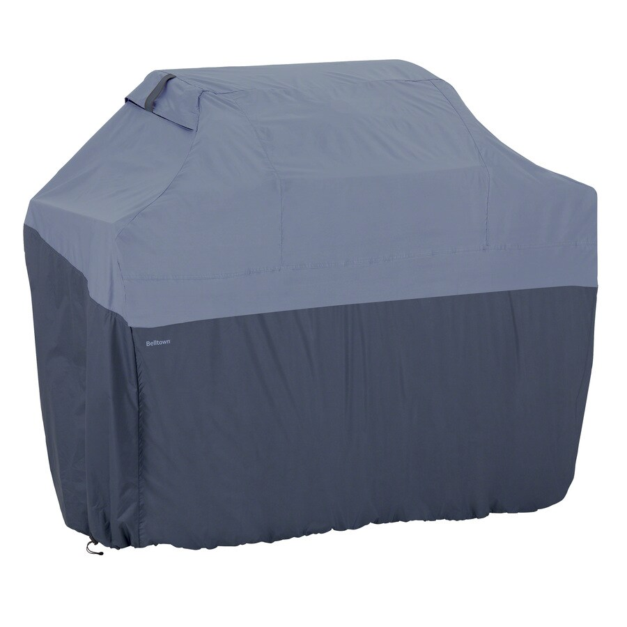 Classic Accessories 22.5-in x 49-in Skyline Blue Polyester Gas Grill Cover