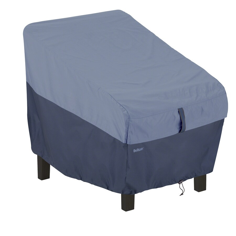 Classic Accessories Belltown Skyline Blue Dining Chair Cover