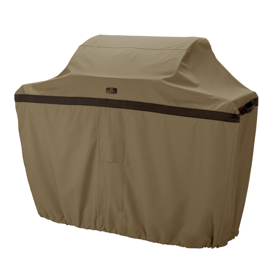 Classic Accessories 26-in x 52-in Hickory Polyester Gas Grill Cover