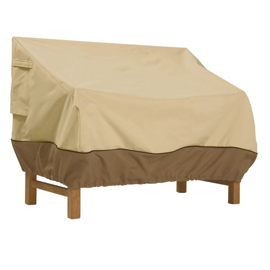 Classic Accessories Veranda Pebble and Bark Bench Cover