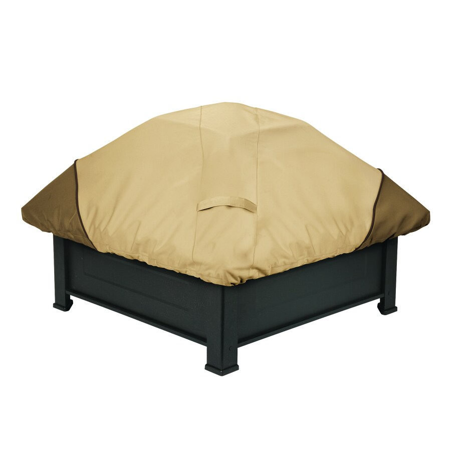 Classic Accessories 40-in Pebble/Bark/Earth Square Firepit Cover