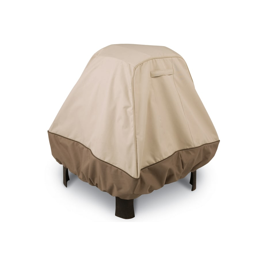 Classic Accessories 36-in Pebble/Bark/Earth Square Firepit Cover