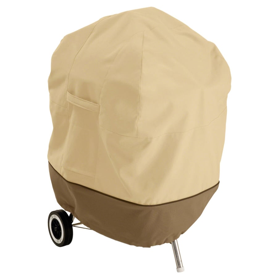 Classic Accessories 11.5-in x 84-in Pebble/Earth/Bark Polyester Charcoal Kettle Grill Cover