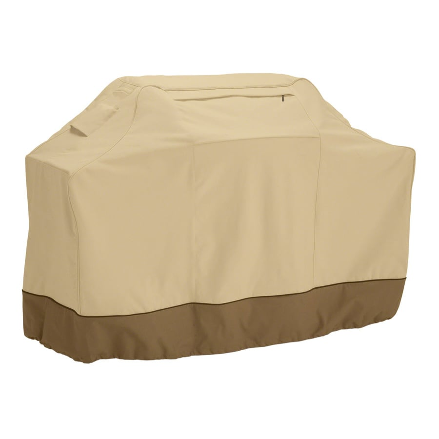 Classic Accessories 22.5-in x 49-in Pebble/Earth/Bark Polyester Gas Grill Cover
