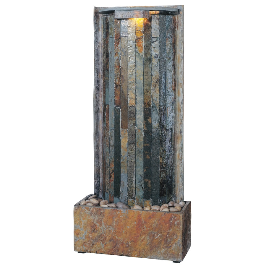 shop kenroy home waterwall 32 in stone wall fountain at