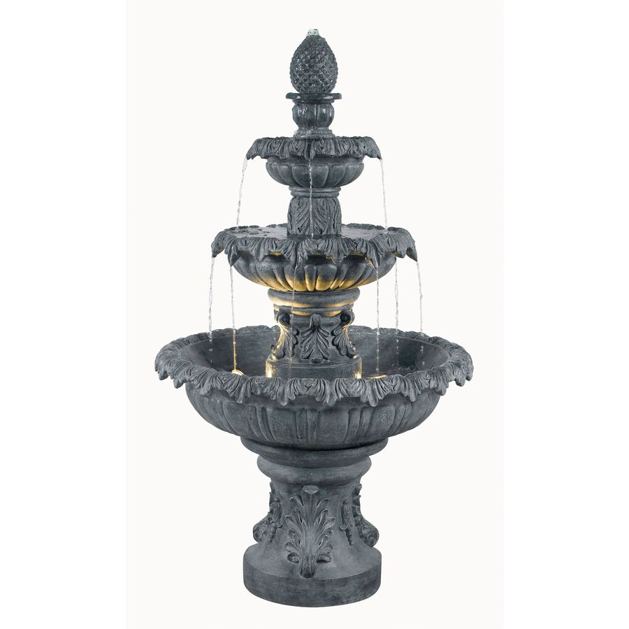 Shop kenroy home costa brava 46 in resin tiered at for Backyard fountains