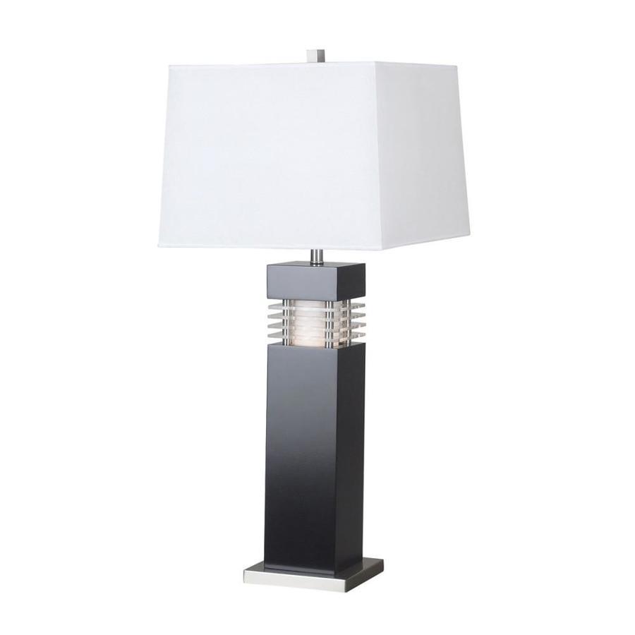 Kenroy Home Wyatt 31 5 In Black Plug In 3 Way Table Lamp With Paper