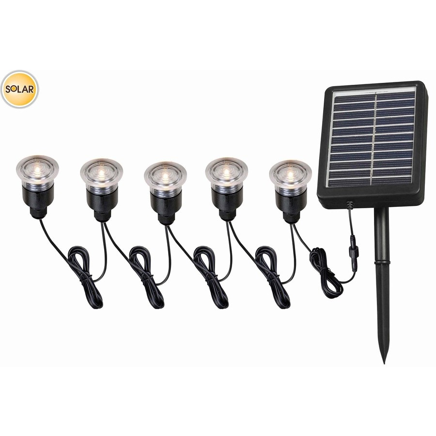 Shop Portfolio 12x 0.5-Watt 5-Light Black Solar Led Step Light Kit ...