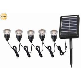 portfolio 12x 05watt 5light black solar led step light kit - Led Deck Lights